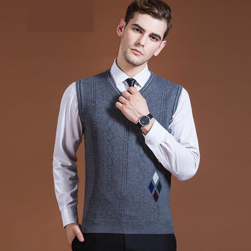 New arrival Men Vest Sweater Autumn Winter Male Casual Computer Knitted V-neck Sleeveless Pullovers fashion size M L XL XXL XXXL