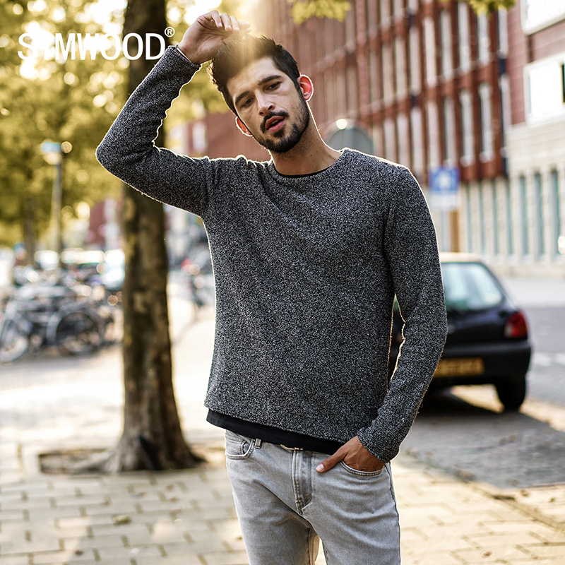 SIMWOOD 2018 Autumn Winter New Casual Sweater Men Colored Wool knitted Pullovers Fashion Slim Fit Christmas Gift Male MT017026