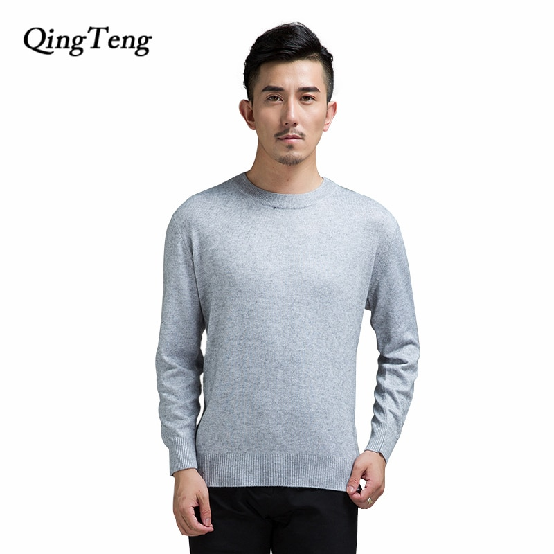 Sweater Male 2018 Black Korean Style Cashmere Wool Knitting Jacket Jersey O-Neck Plus Size Mens Pullover Jumper Tmall Seller