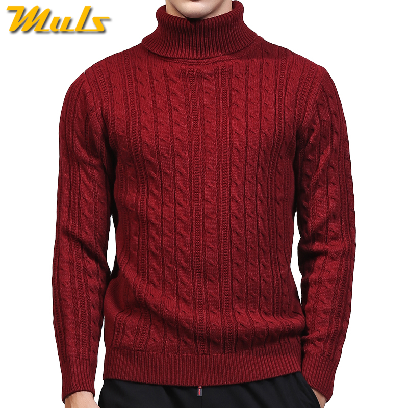 3Colors Turtleneck Sweater Pullovers Men Thick knitted Sweater Jumpers Man Winter Warm Acrylic Male knitwear Autumn Tmall Brand