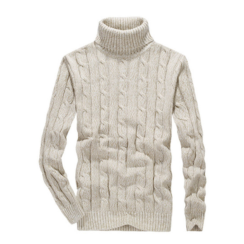 5 Colors 2018 New Winter Turteneck Cotton Men Knitwear Sweaters Spring Autumn Warm Pullover Sweater