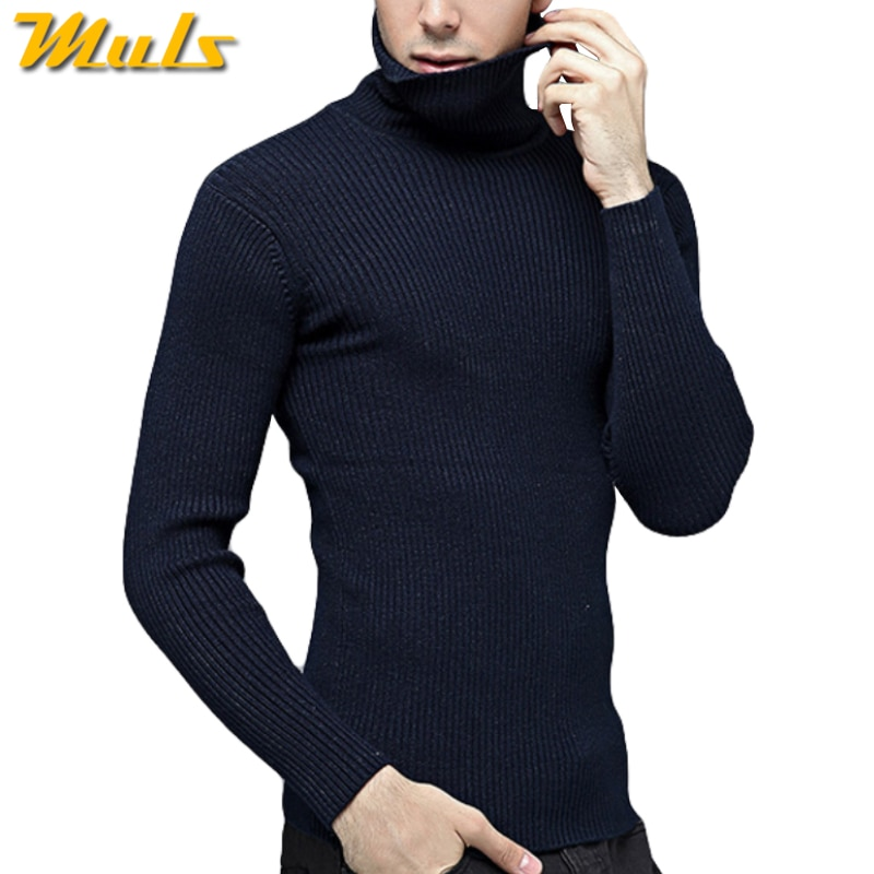Brand Thick Merino Woolen Sweater Men Thermal Underwear Men Winter Turtle Neck Cashmere Sweaters 4XL Pullover Mens Fashion MuLs
