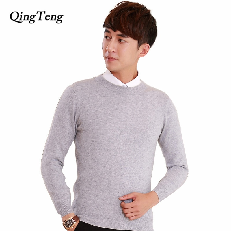 Designed Sweater Male Ribbed Crew Neck Black Jacket Jersey Cashmere Wool Knitting High Quality Men's Jumpers Oversized Pullover