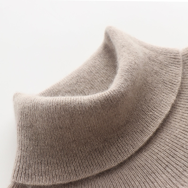 Man Sweaters 100% Pashmina Knitting Pullovers 2018 New Arrival 7Colors Turtleneck Pure Cashmere Jumpers Winter Warm clothes Tops