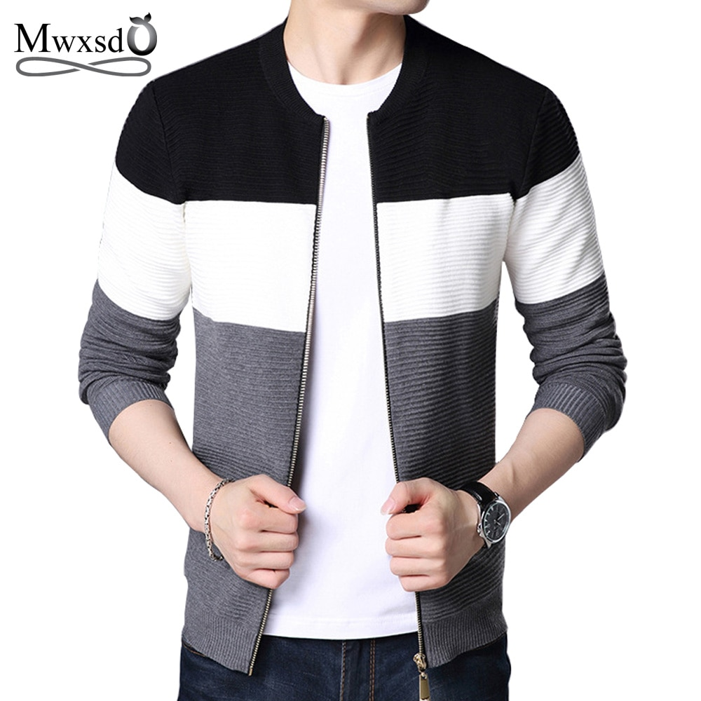 Mwxsd New arrival Thick Sweater Men famous brand clothing men Cardigans male casual zipper sweaters male christmas sweater