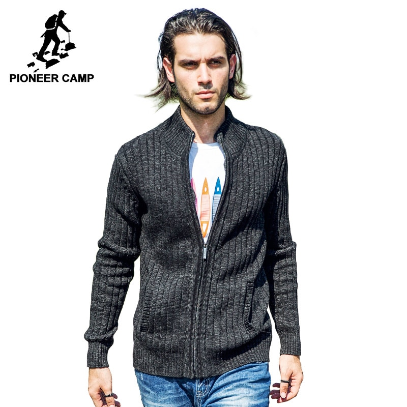 Pioneer Camp.Free shipping 2017 new fashion mens cardigan sweater casual mens imported-clothing cotton men knitwear coat sweater
