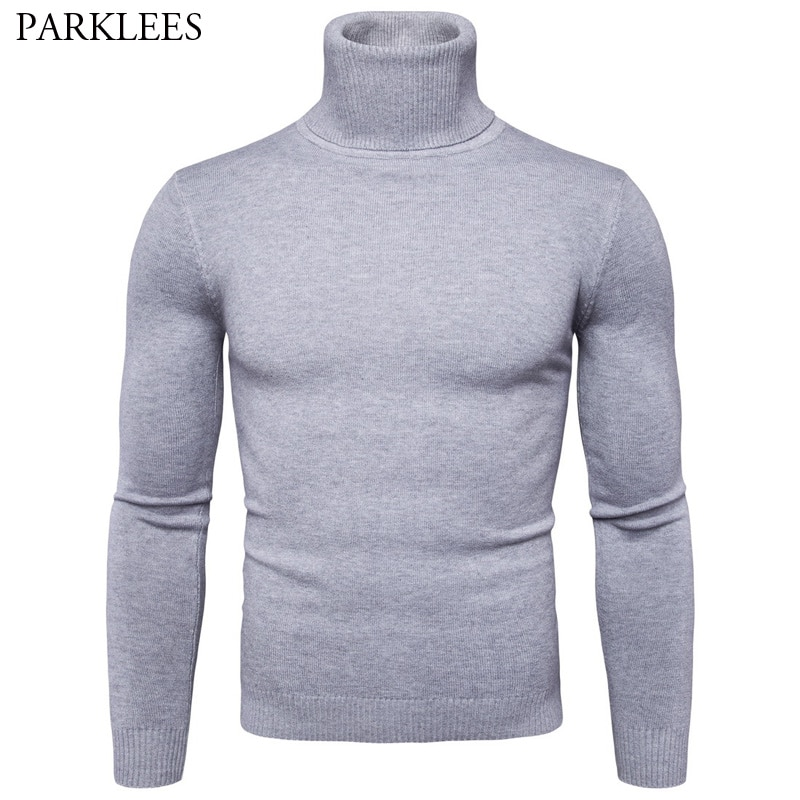 Solid Color Mens Pullover 2017 Brand New Mens knitted Sweaters Autumn Winter Long Sleeve Men Turtleneck Sweater Heren Pullovers