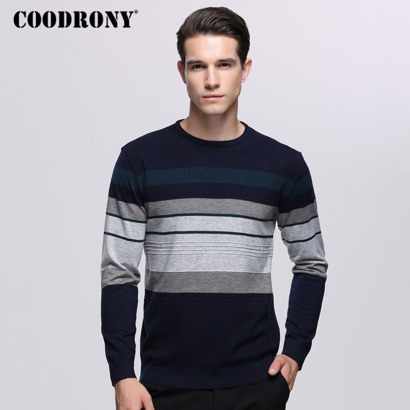 COODRONY Mens Sweaters For 2018 Autumn Winter Knitted Wool Sweater Men Casual O-Neck Pull Homme Cashmere Pullover Men Shirt 7236